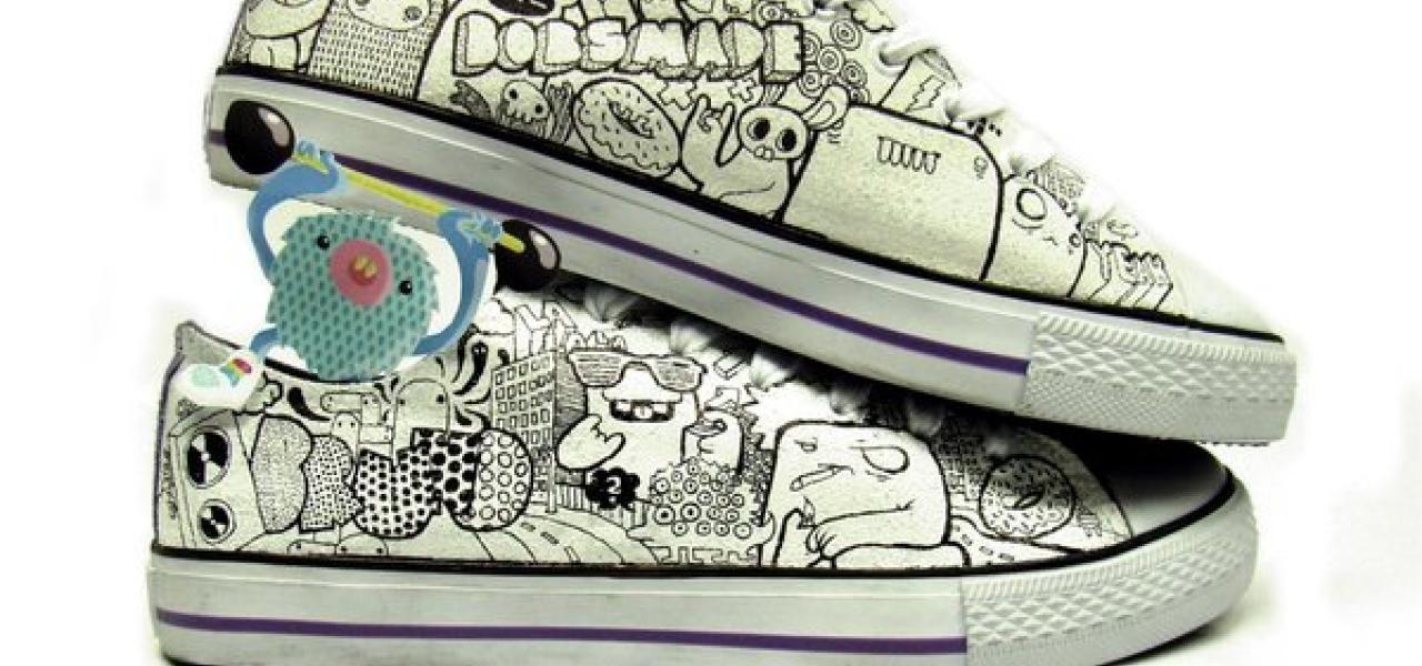 8e70baa6448d the cartoon like characters make the shoe