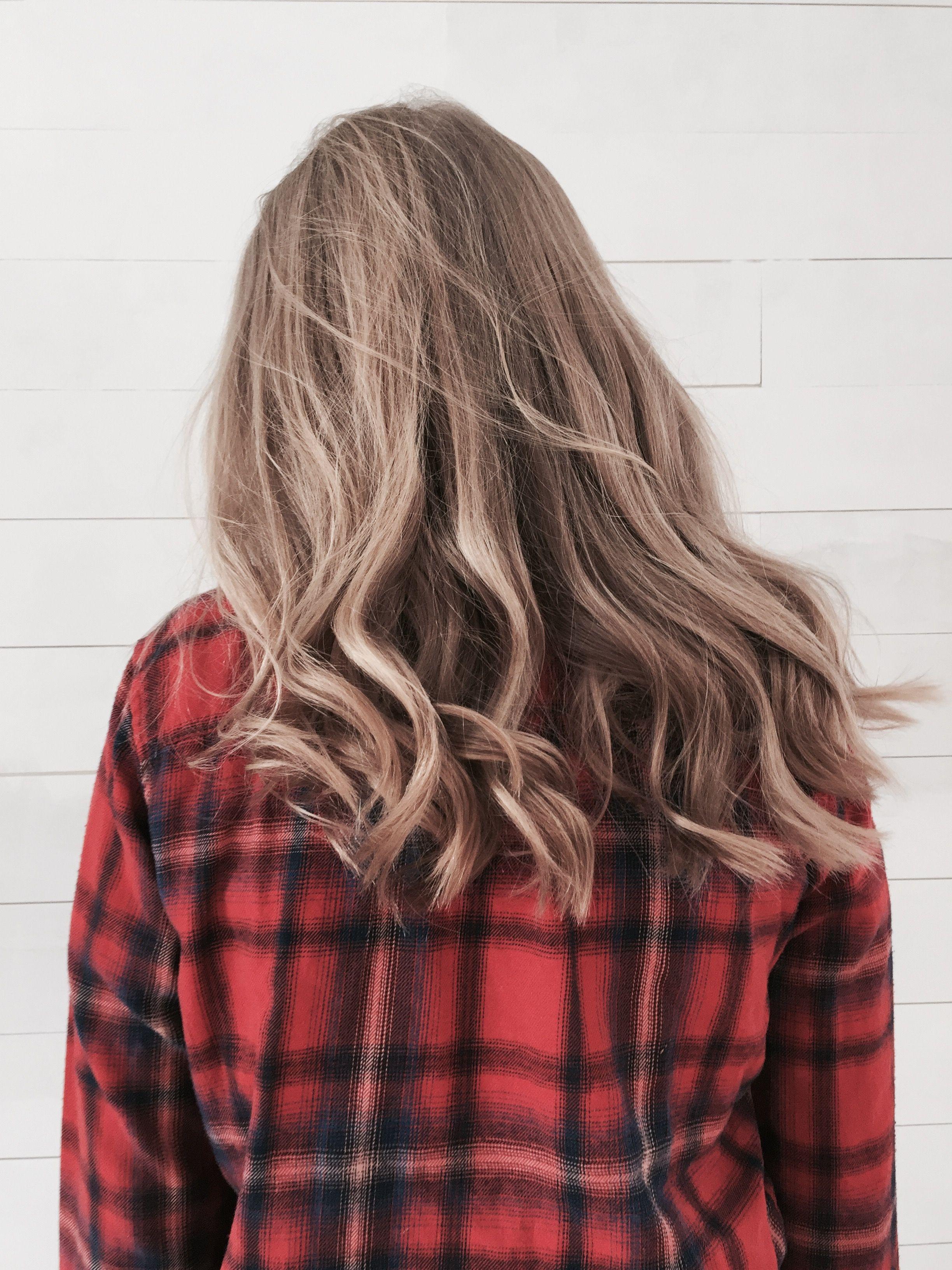 Curled hair
