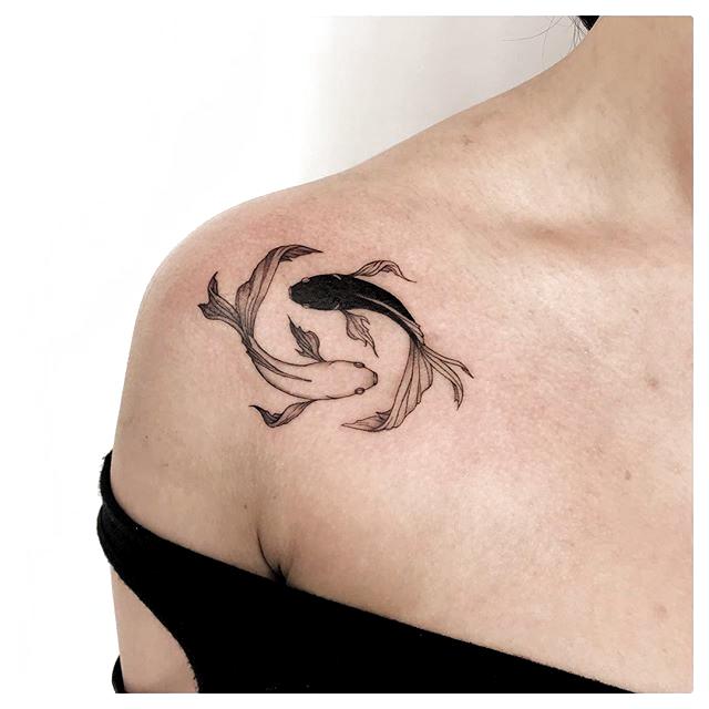 Photo of ♡。ずっとN.uppていただきありがとうございます! 。これらの魚を刺青の愛…  –  #fishes #love #Nupp #tattooing