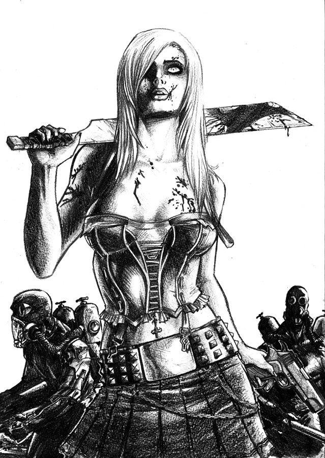 Zombie Girl Art Sketch Artiste Et Dessin