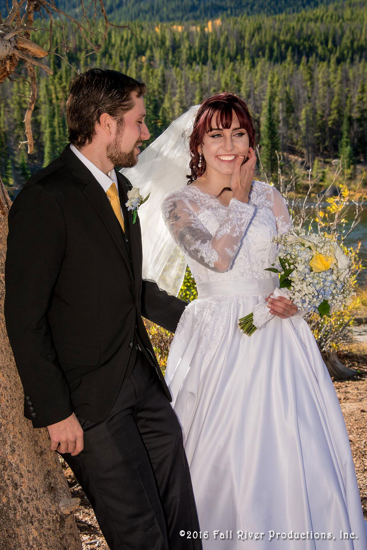 Sprague lake wedding in rocky mountain national park photography by