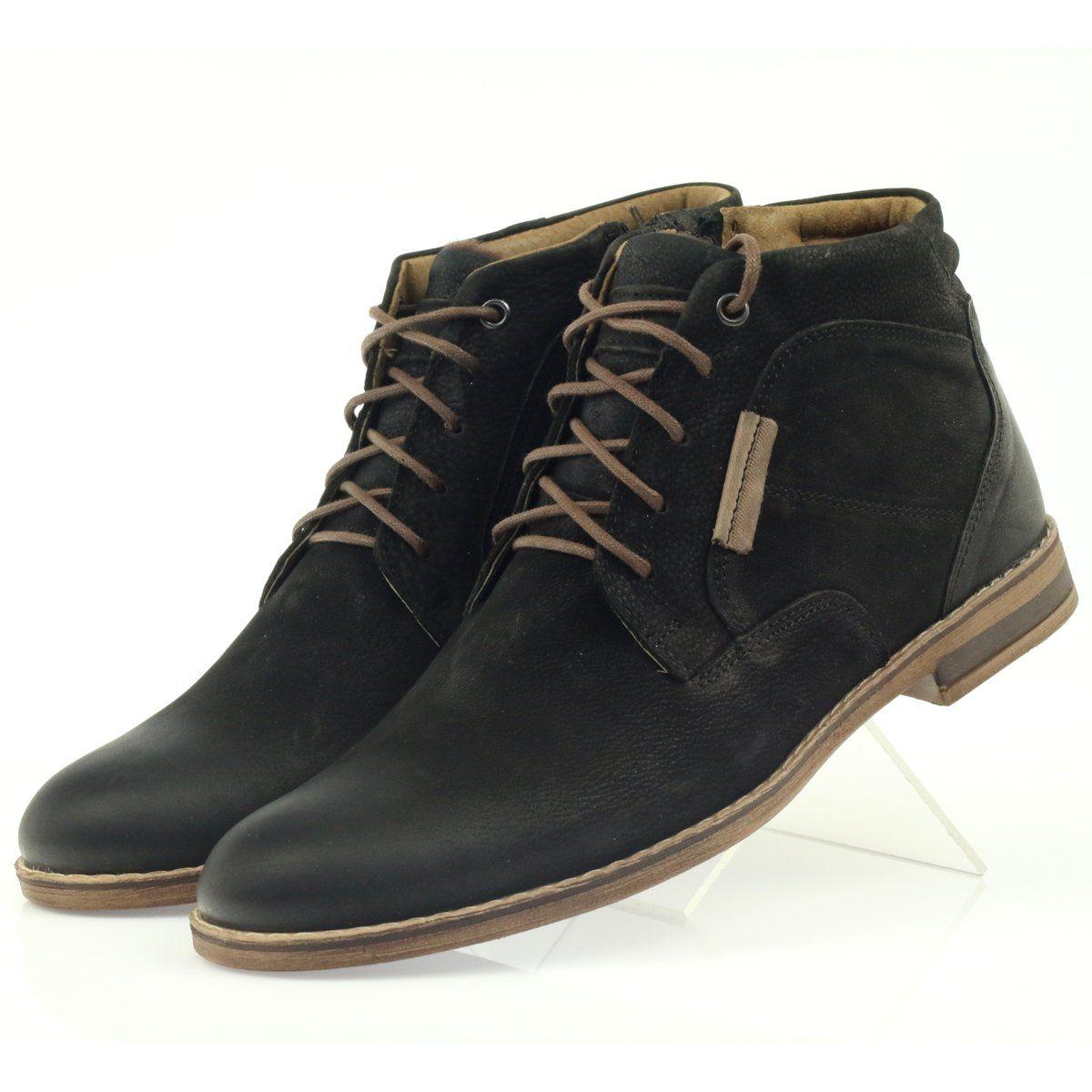 Sztyblety Meskie Riko Botki Sztyblety Na Suwak Riko Czarne Chukka Boots Shoes Boots