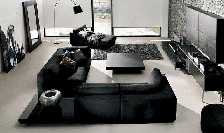 80 Comfy Minimalist Living Room Design Ideas Black Living Room Minimalist Living Room Minimalist Living Room Design