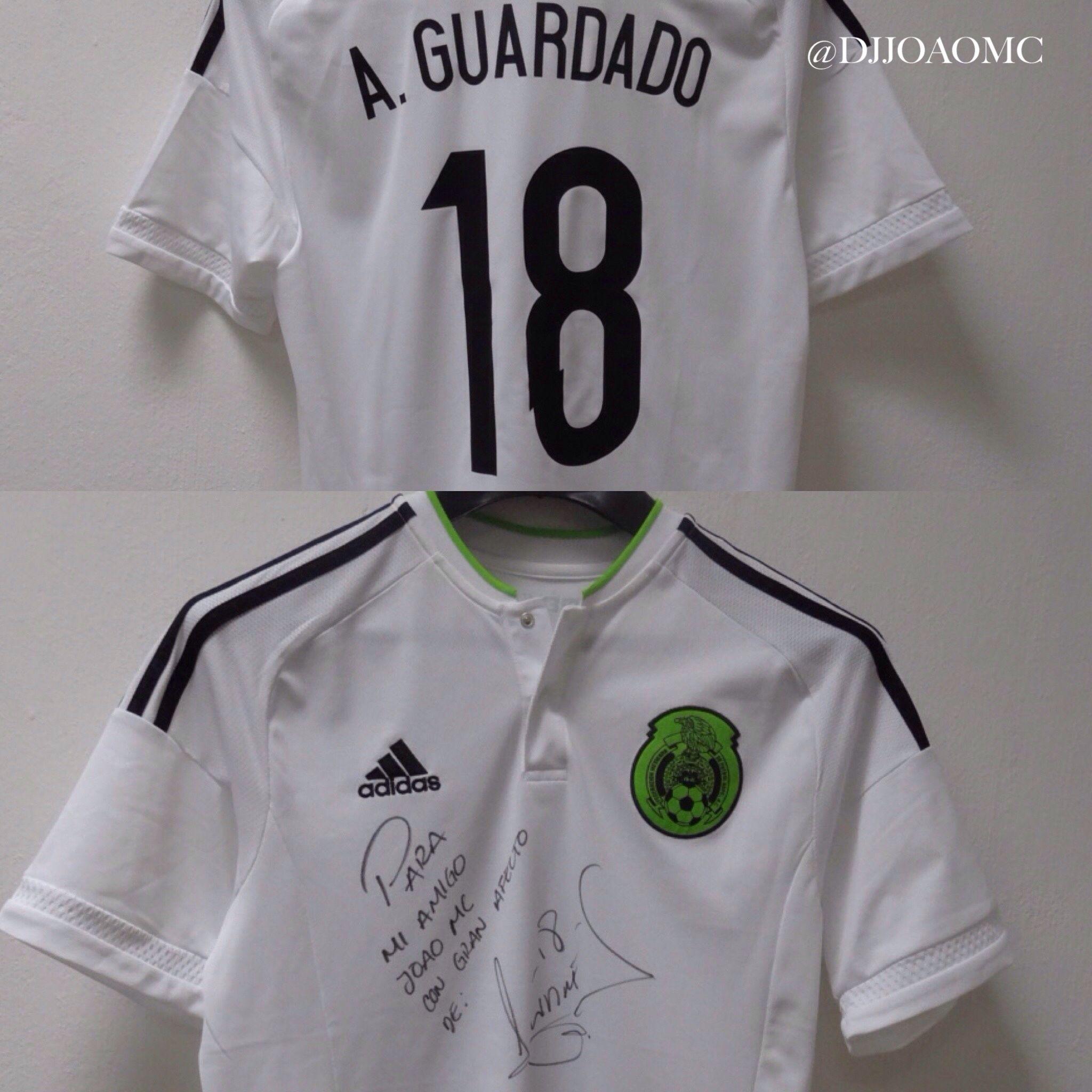Jersey Selección México Visita 2015 autografiada por Andres Guardado (jugador del PSV Eindhoven De Holanda ✌️