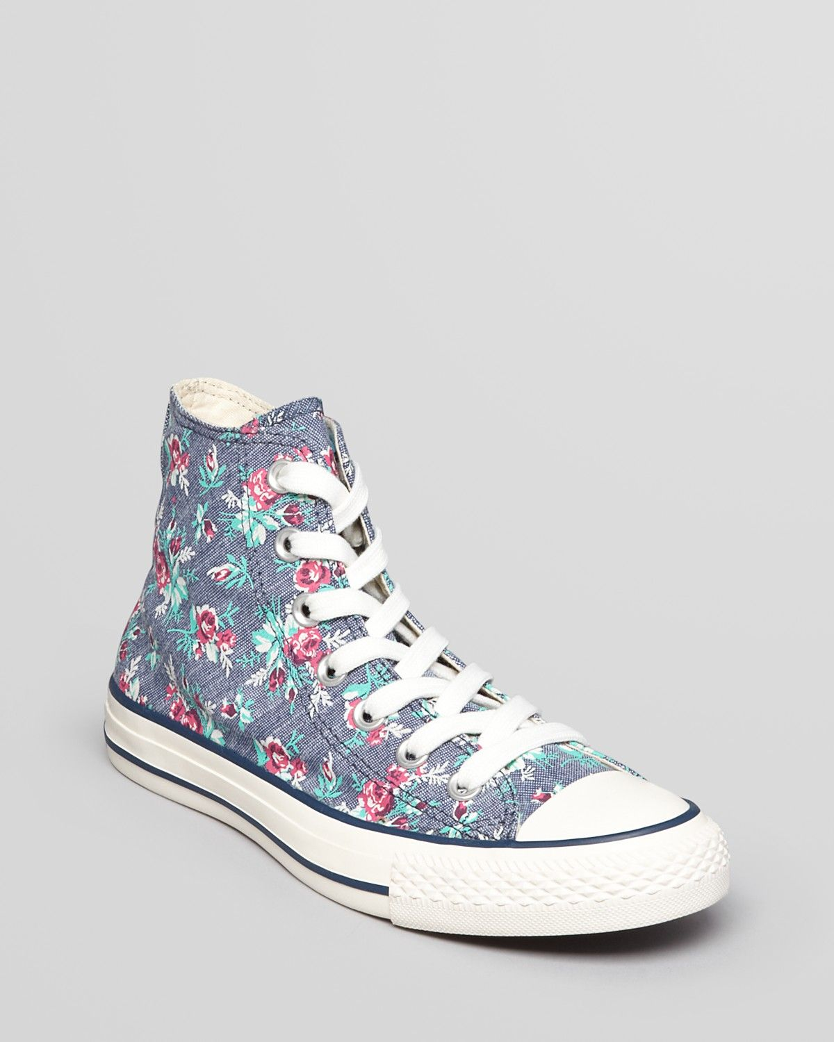 07f01001eb9ab2 Converse Lace Up High Top Sneakers - All Star Floral Print ...