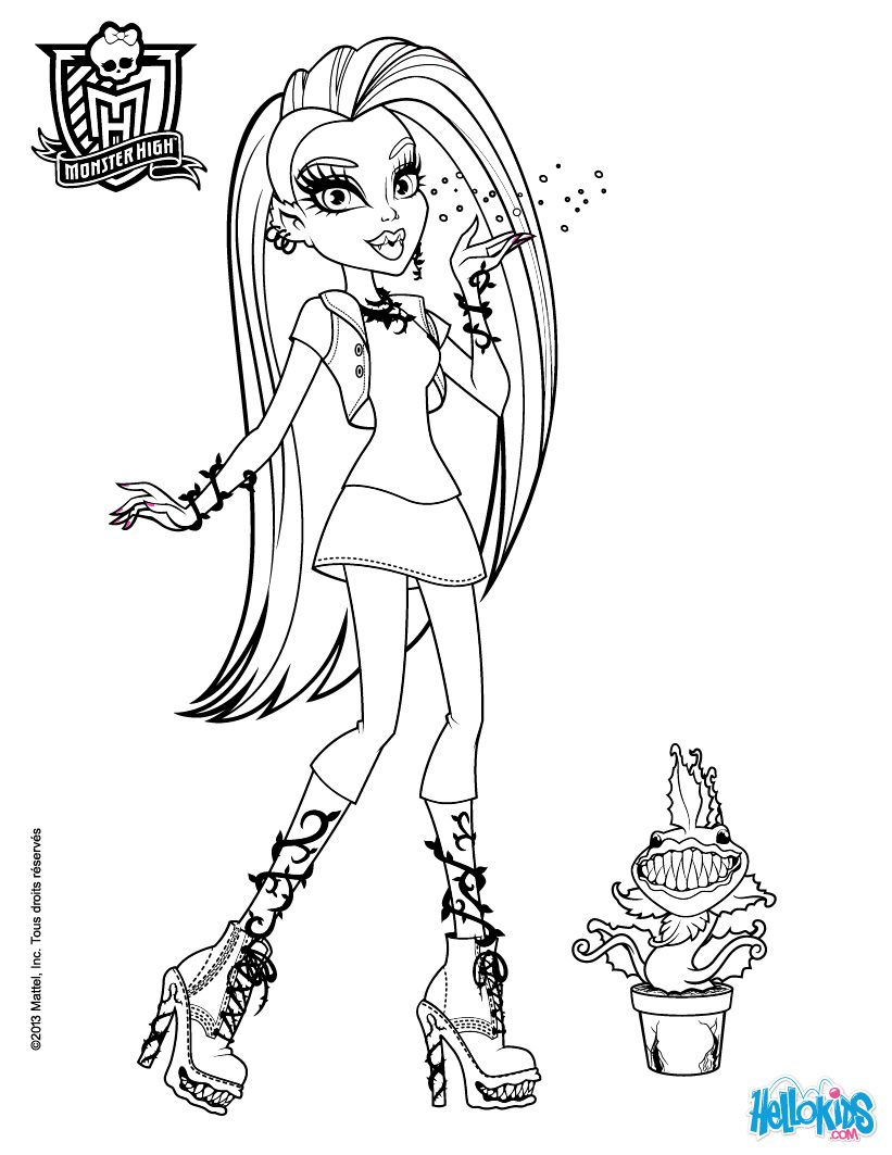 Chewlian Venus Mc Flytrap Coloring Page This Beautiful From MONSTER HIGH Pages Is Perfect For Kids
