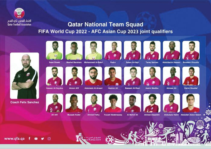 Qatar Football Team Named For Qualifiers Against Afghanistan And India Qatar Football Football Team Names Football Team