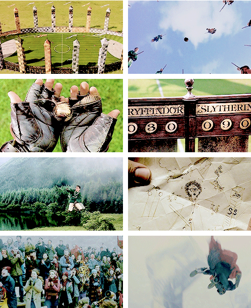 "HARRY POTTER ALPHABET → q ↳ quidditch  ""It's our sport. Wizard sport. It's like — like football in the Muggle world — everyone follows Quidditch — played up in the air on broomsticks and there's four balls — sorta hard ter explain the rules."""