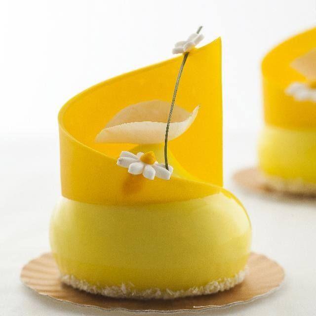 Pastry Chef Cecile Moritel Petit gâteau LEMON