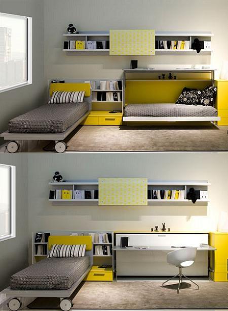 Dormitorio de clei muebles cama - Cama plegable escritorio ...