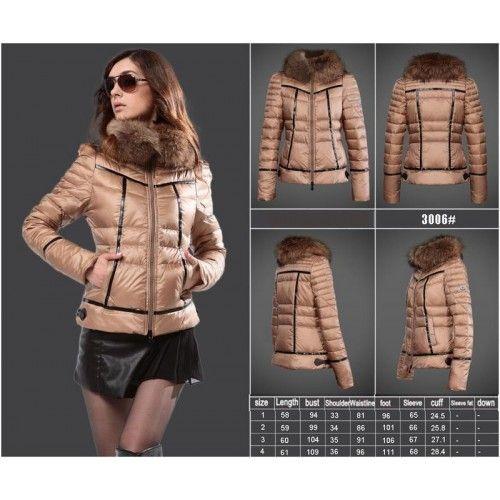online store 362b8 83802 Moncler Daunenjacke Damen Mantel Licht Bräunen | Mode ...