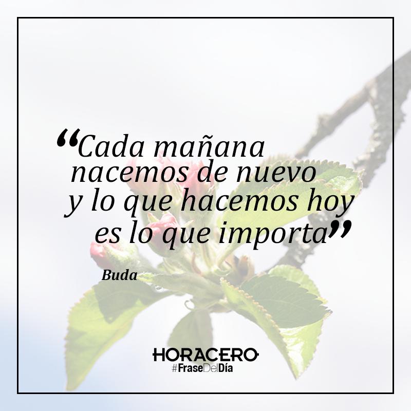 """""""Cada mañana nacemos de nuevo y lo que hacemos hoy es lo que importa"""" Buda #frases #citas #frasedeldía"""