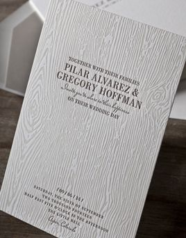 Woodgrain Letterpress Or Digital Wedding Invitation From Umi By Elum 2 Customize Yours With Paper