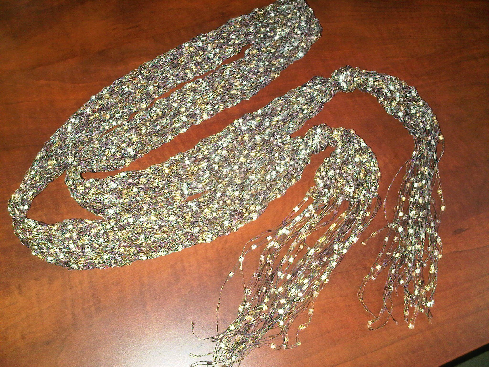 Ladder Yarn On Pinterest Yarn Necklace Yarns And