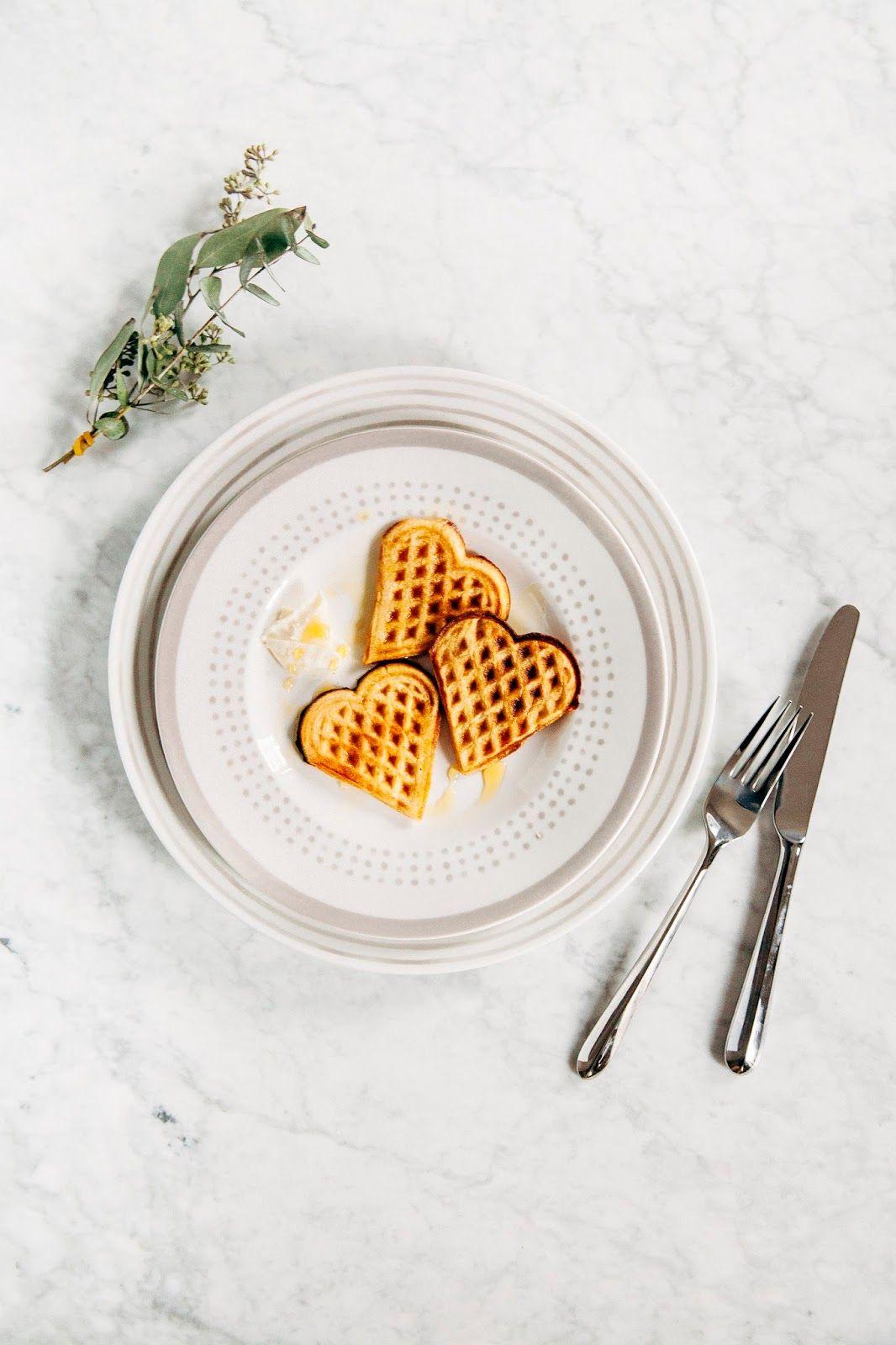 overnight eggnog waffles