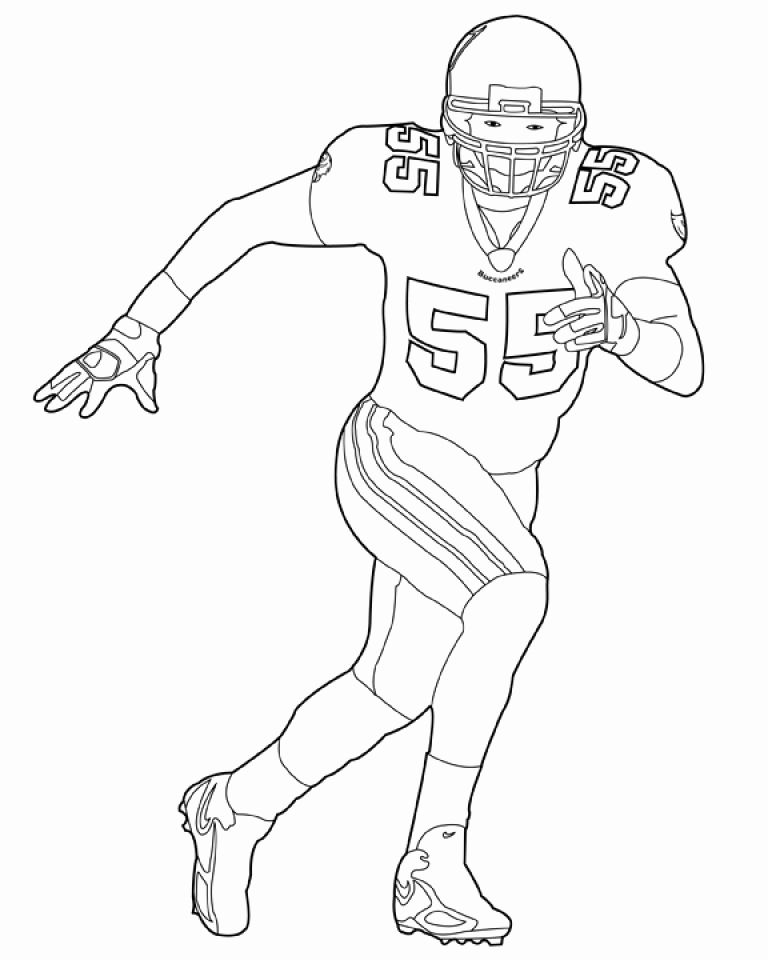 Nfl Coloring Pages Fresh Nfl Coloring Pages Players In 2020 Football Coloring Pages Sports Coloring Pages Football Player Drawing