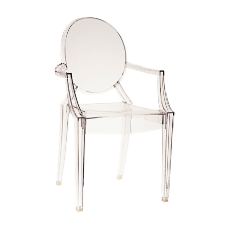 Chaise Louis Ghost Transparente By Philippe Starck Kartell