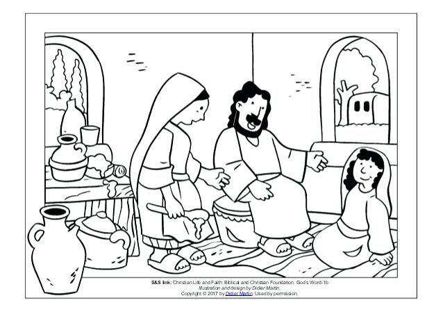 mary and martha coloring page stunning and coloring page