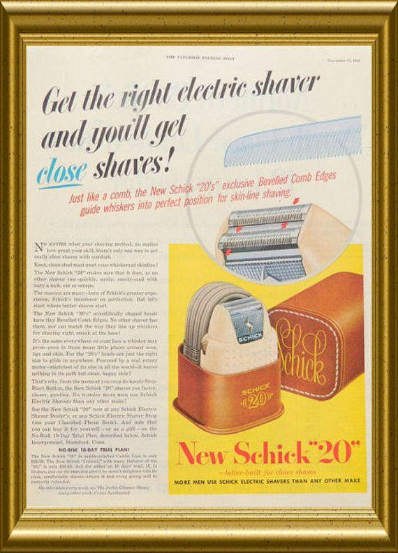 Bathroom Wall Art Schick 20 Electric Shaver by DustyDiggerLise ...