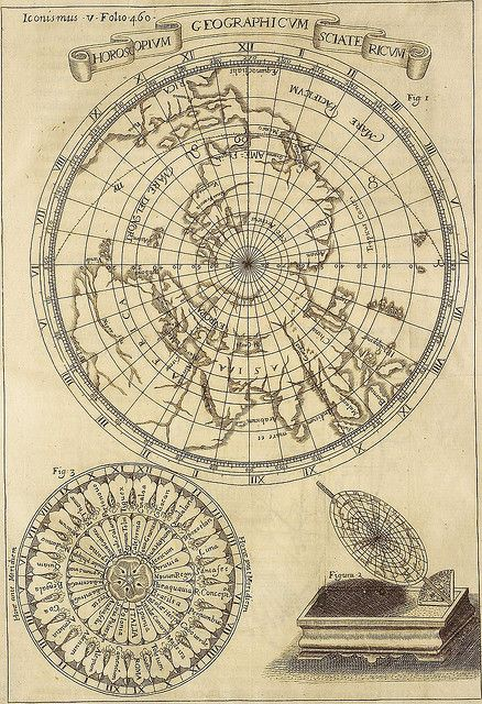Horoscopium geographicum photography vintage maps and cartography i love the flat maps where the western half of north america is mostly guess work antique world map gumiabroncs Gallery