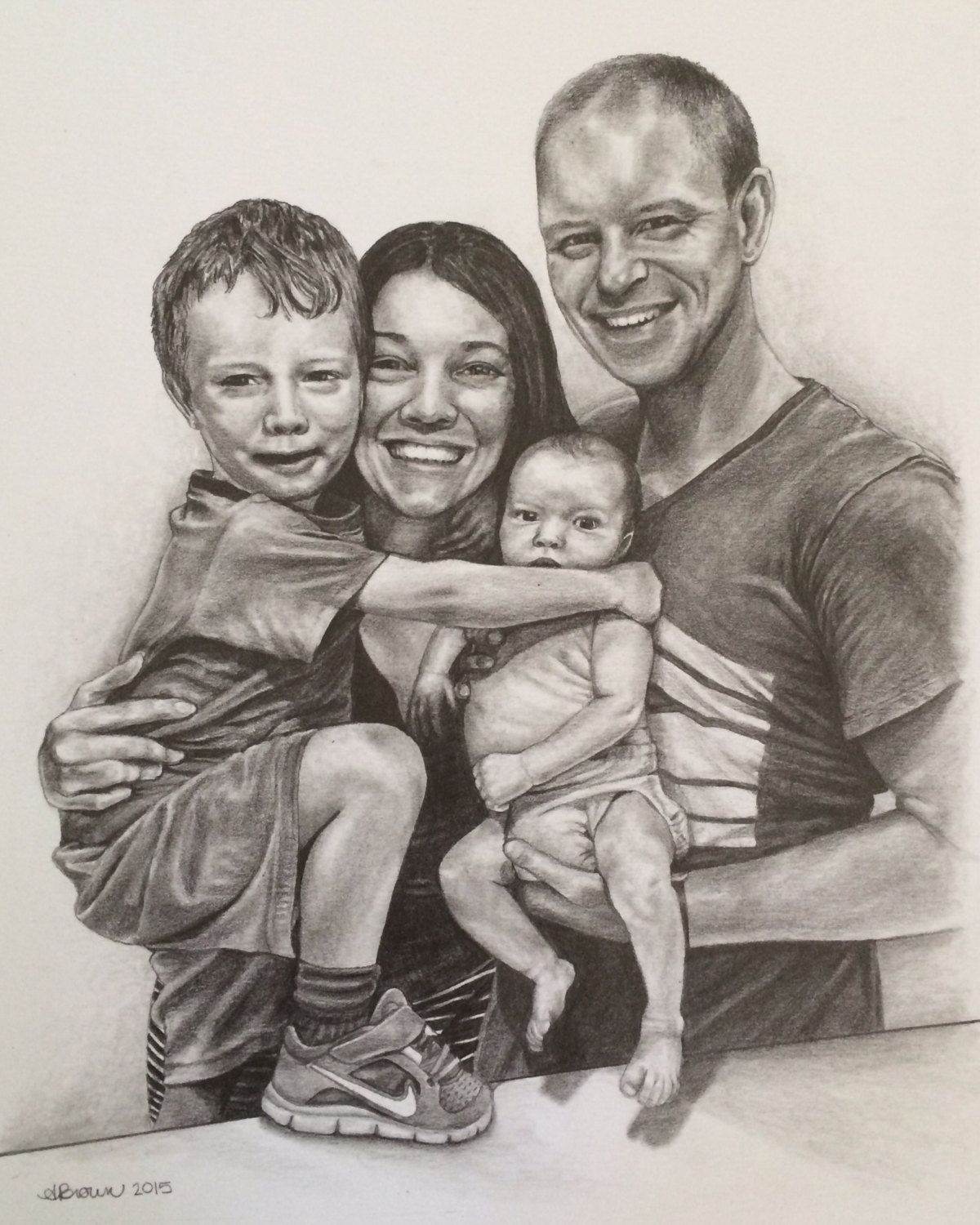 Family Sketches With Pencil