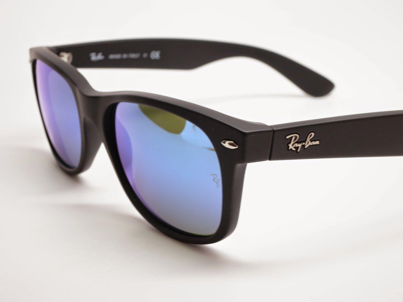 371bf9a3bc Ray-Ban RB 2132 New Wayfarer 622 17 Blue Mirrored Sunglasses