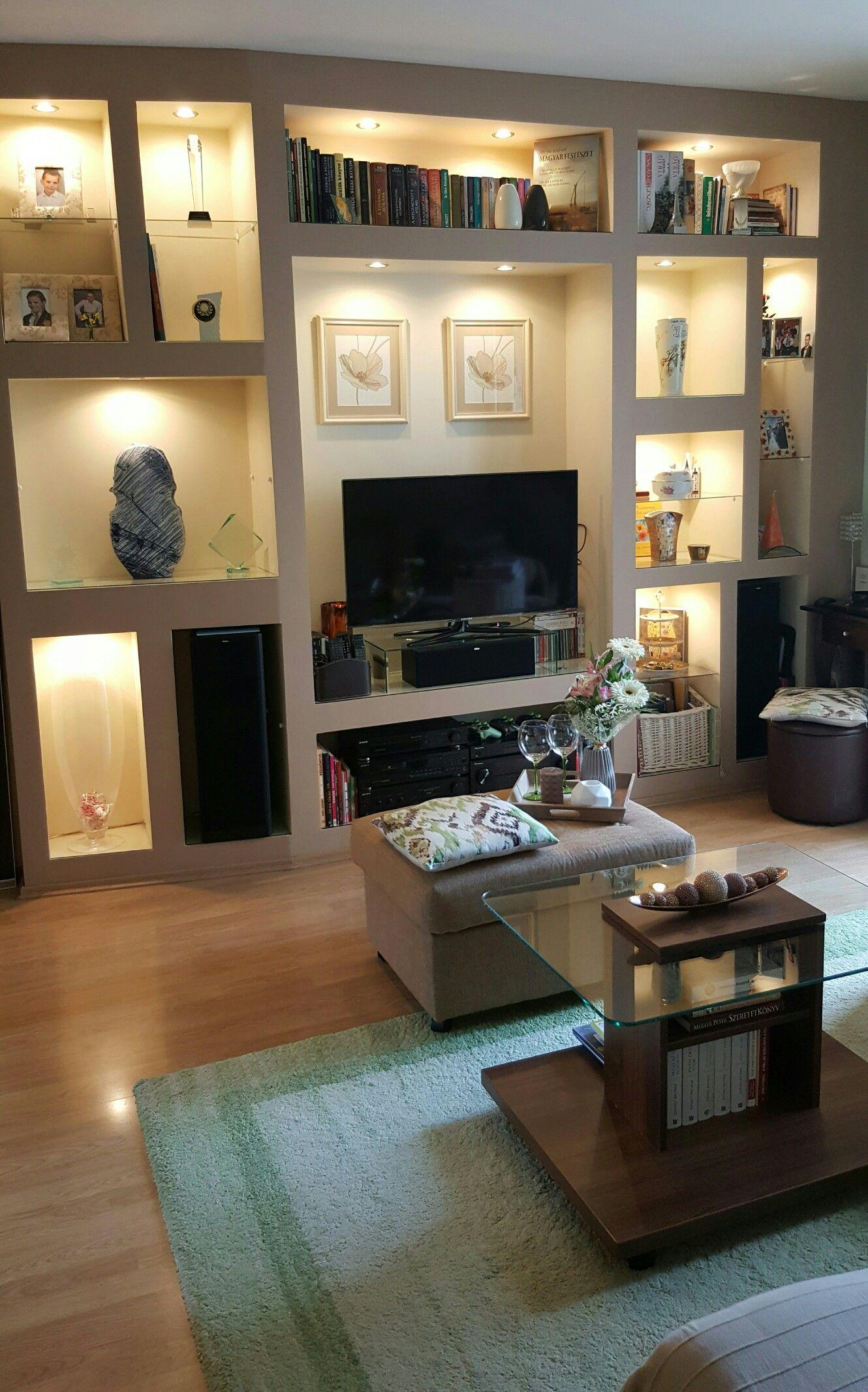 Gipszkarton Polc Decoracin Salas Living Room Decor