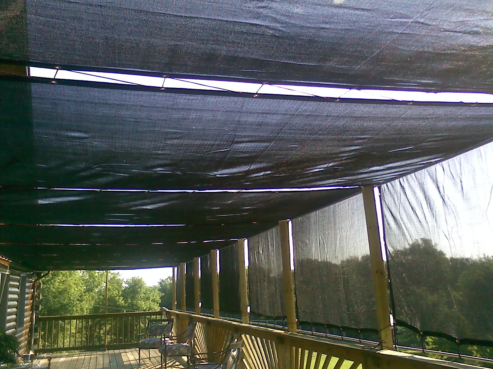 With Some Conduent Hangers Connectors And Mesh Tarp A