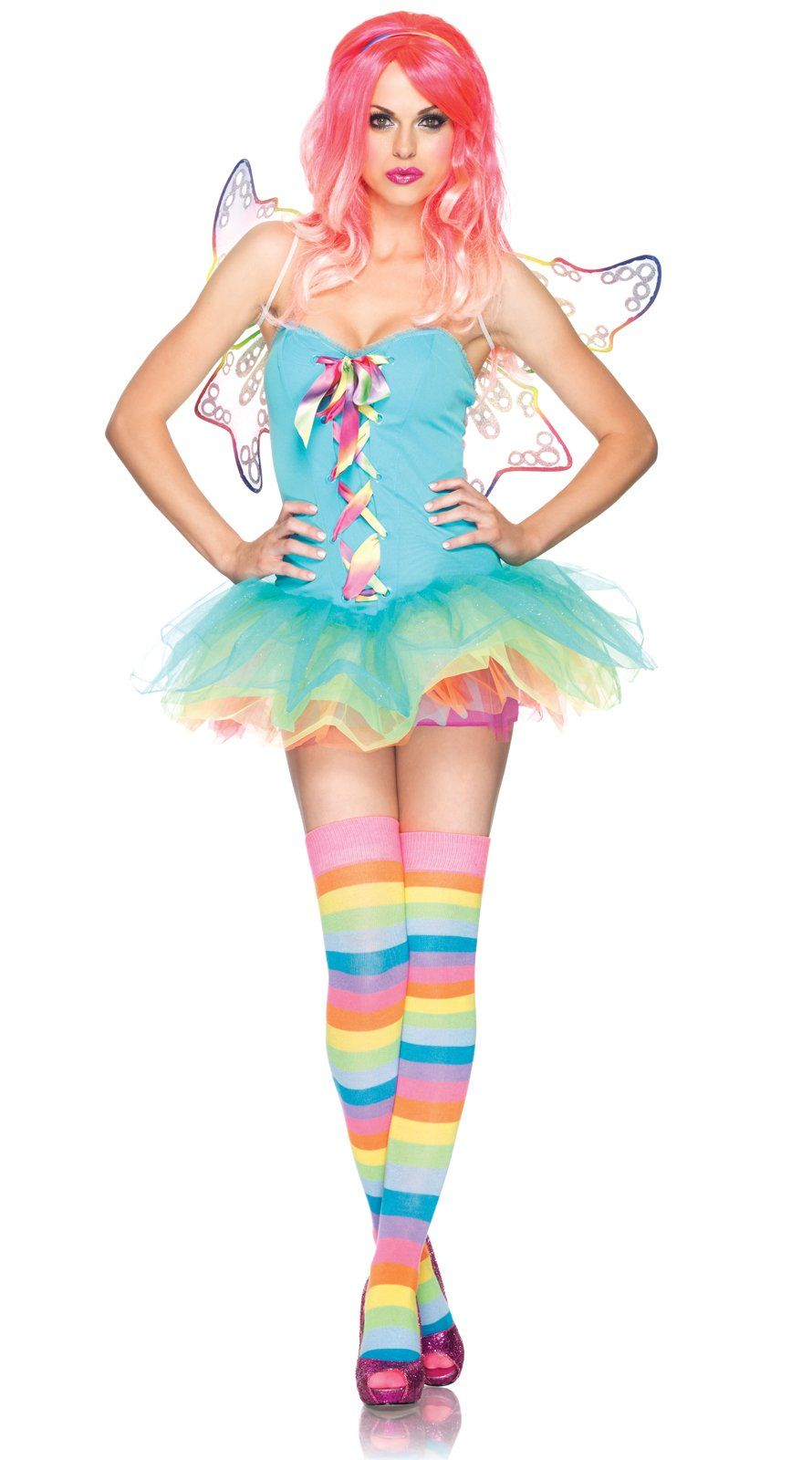 Rainbow Fairy Adult Costume$54.99  sc 1 st  Pinterest & Rainbow Fairy Adult Costume | Rainbow fairies Costumes and Candyland