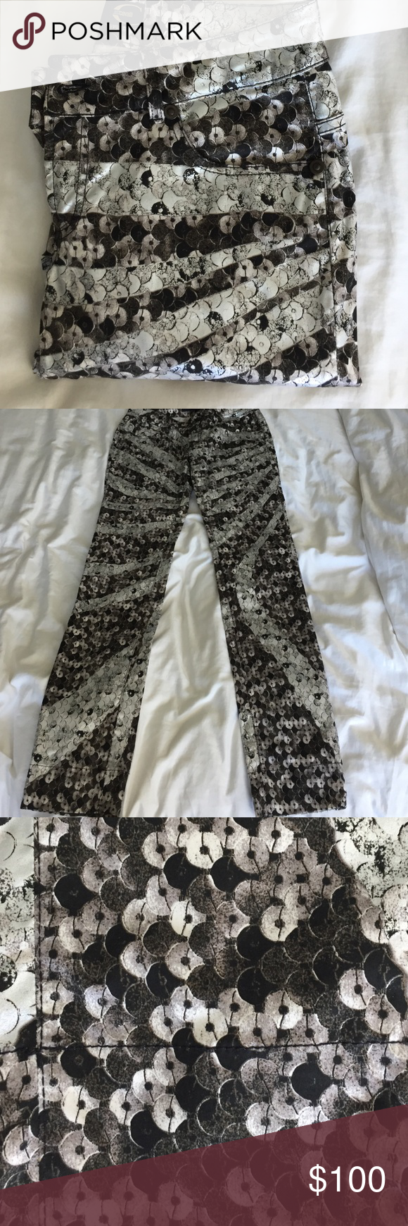Just Cavalli Just Cavalli printed pants😍 has front and back pockets in excellent condition. Size 42IT=size 6 US. 33 inseam Pants Straight Leg