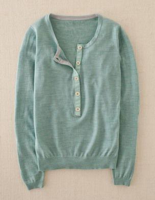 Favorite sweater....  Merino wool henley from Boden
