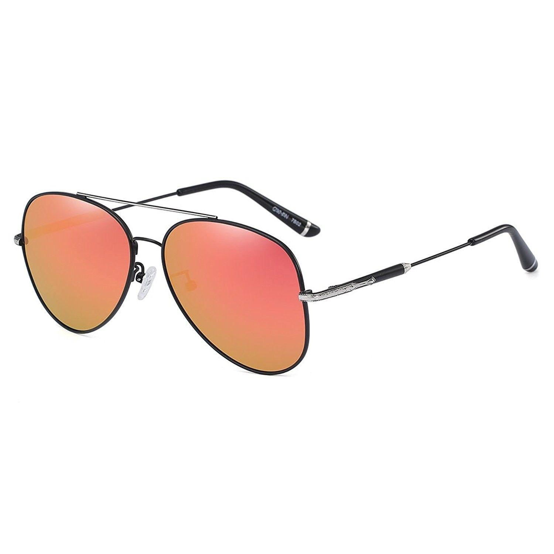 Classic Polarized Aviator Sunglasses Ultra-Thin Frame Full Mirrored ...