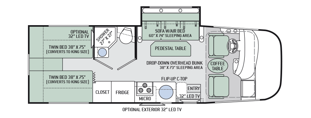 2016 vegas ruv 241 class a motorhomes camperstrailersremodel explore the floor plans of the axis ruv class a rv by thor motor coach cheapraybanclubmaster Images