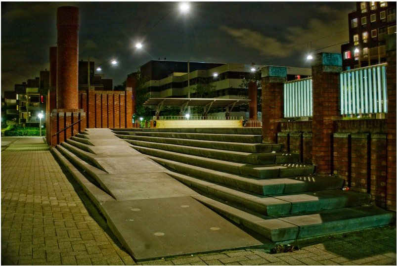From This Angle, Ramp Takes Precedence Over The Stairs   Ramp Stairs U2013 The  Netherlands   8 Amazing Examples Of Ramps Blended Into Stairs