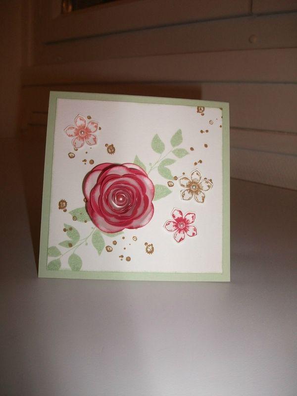 carte avec fleur en spirale de stampin'up