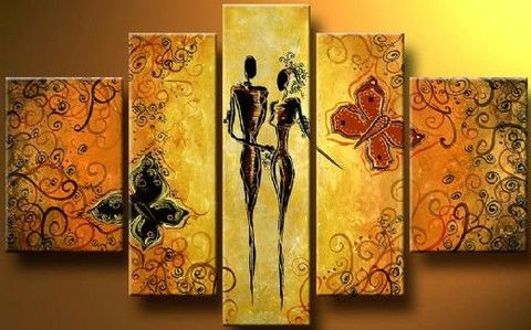 2 lovers 3 piece wall art | free shipping & framed | Brown canvas ...