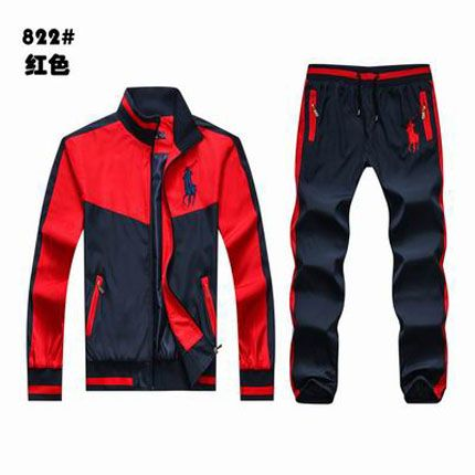 f22c1da789416 Polo Ralph Lauren Men s Tracksuit Red Black