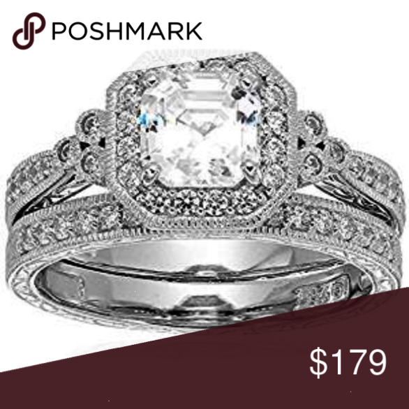 442749a49143e Platimun Plated Sterling Silver Ring Platinum Plated Sterling Silver ...
