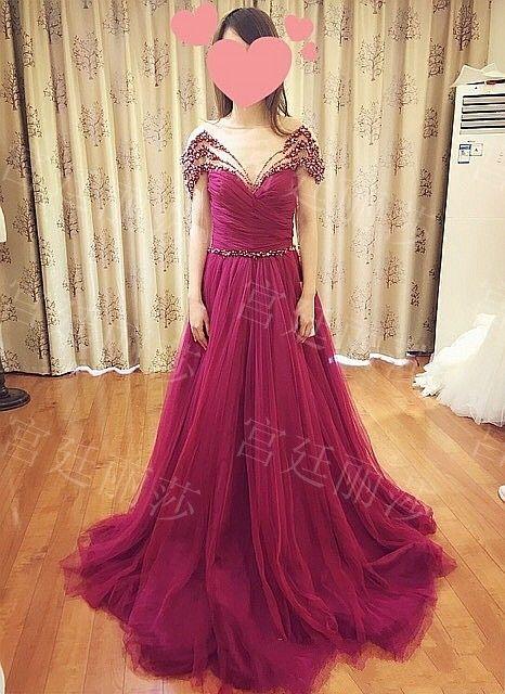 极致奢华水晶礼服韩版韩式礼服新娘结婚敬酒礼服晚礼服xj98745 Sleeveless Formal Dress Formal Dresses Long Dresses