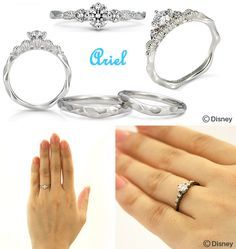 Wedding Ring 1 3 Little Mermaid Wedding Pinterest Ring