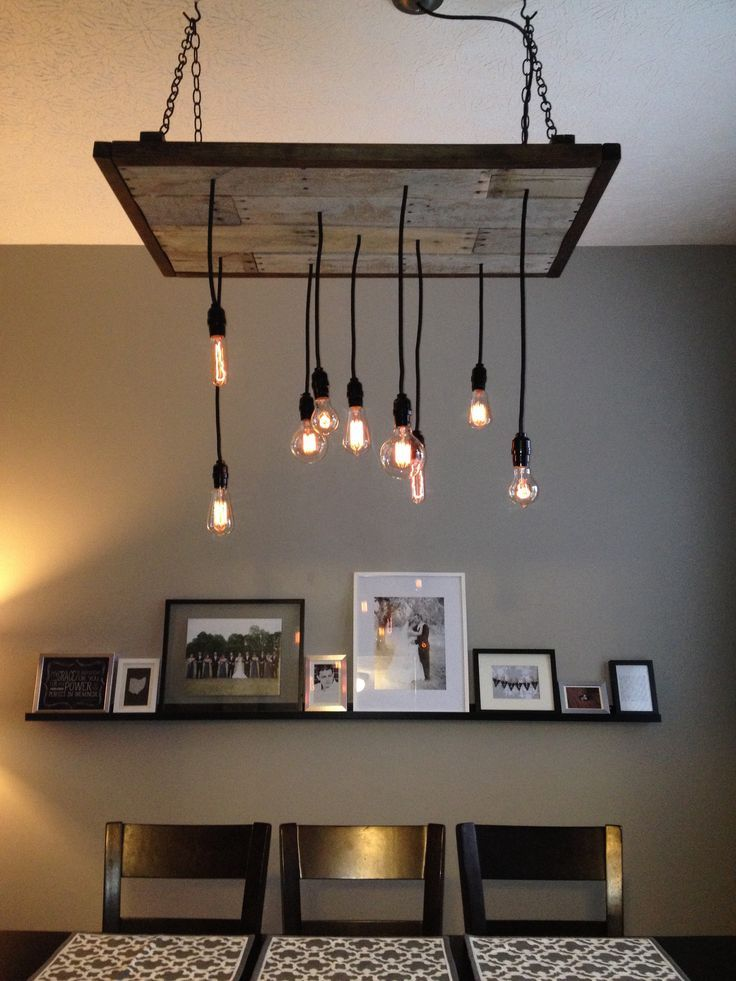 Diy Industrial Chandelier Dining Room Diy Pinterest Rustic Lighting Rustic Kitchen