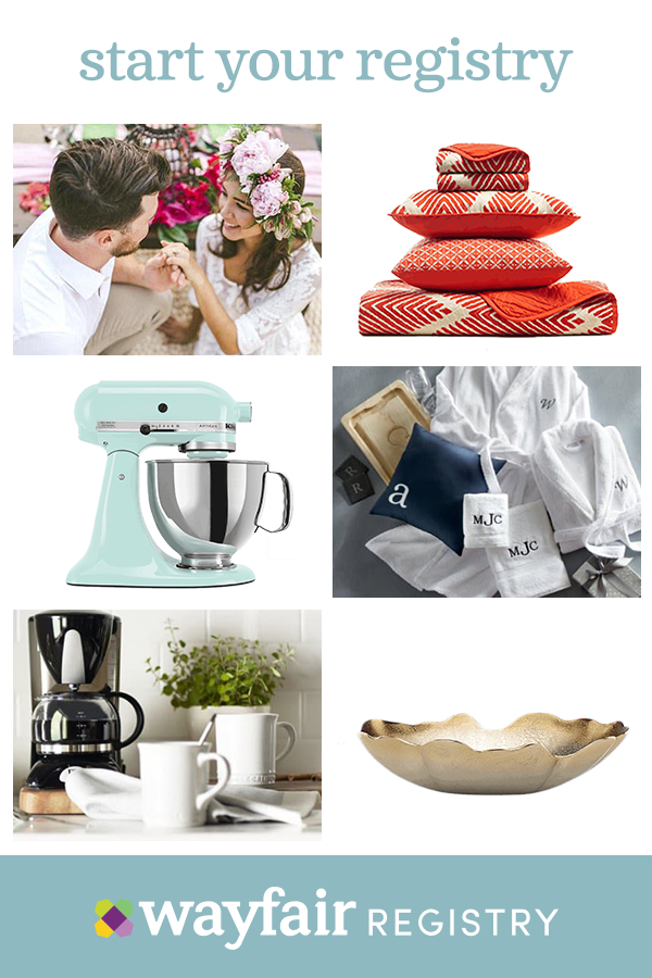 Register For Anything And Everything With Wayfair Your Wedding Gifts Will Be Reminders Of Your Special Day For Wayfair Registry Dream Wedding Registry Registry