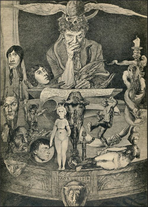 Austin Osman Spare ~ The Death Posture