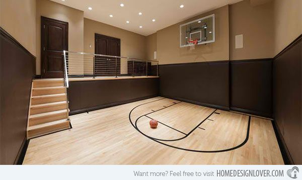 15 Ideas For Indoor Home Basketball Courts Home Design Lover Home Basketball Court Dance Rooms Dream House