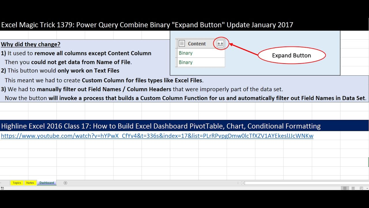 """Excel Magic Trick 1379 Power Query Combine Binary """"Expand"""