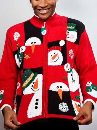 Throw An Ugly Christmas Sweater Party Guaranteed Fun For Everyone Guests Get Their Fashion Faux Pas Inexpensively From K Mart Or Some Other
