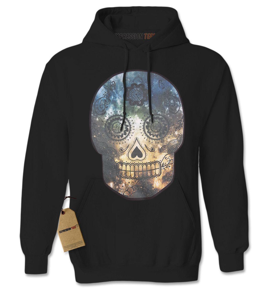 Sugar Skull Galaxy Dia De Los Muertos Adult Hoodie Sweatshirt