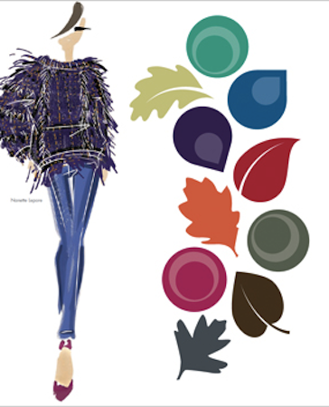 love Pantone's transition of summer brights into deeper tones for fall - blend them together in layers, or mix with the neutrals