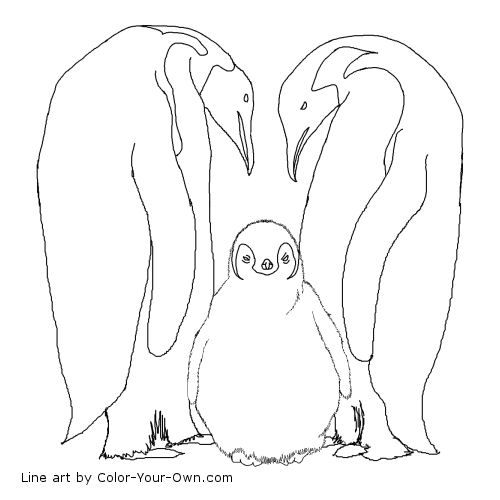 We Did This Ee Week Emperor Penguins Coloring Page Covered Baby S