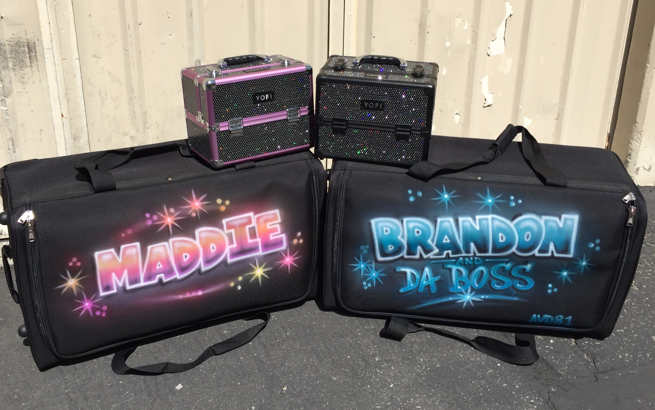 bags train and airbrush dance pin rack cases rolling yofi roll